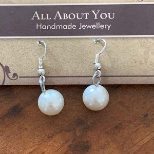 2/$20 Handmade faux pearl earrings